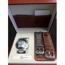 WW#01 Michael Bastian Watch Chronowing with box, bands, & charger