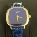 W#19 Vacheron Constantin 18k white gold Lapis Lazuli Blue leather strap $5,450