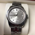 W#T00 Staineless steel Tudor (made by Rolex) glamour silver diamond dial / diamond bezel model #55020 - brand new / never worn - complete set retails for $5825.00 asking $4077.50