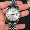 W#010 36mm new model Datejust Rolex with white gold bezel factory diamond jubilee dial $7995.00