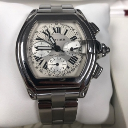W#012 Men's stainless roadster chronograph XL $4495.00