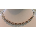 N#007 ladies 14k two tone X&O's Necklace $3995.00