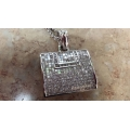 N# Ladies 14kt w/gold Custom Fancy Purse Necklace $6495.00
