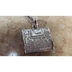 N#020 Ladies 14kt w/gold Custom Fancy Purse Necklace $6495.00