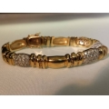 """B#27 14k yellow gold  7.5"""" long  5.00cts of diamonds  20.77 dwt in gold  Asking $2000.00 Obo"""