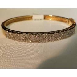 B#32  14k yellow gold fashion bracelet (bangle)  Approx 2.00cts in diamonds  Asking $1100.00. Obo