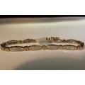 B#3  14k two tone  Tennis bracelet  2.00cts $800.00  obo