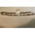 """B# 7 18k white gold  Approx 3.00cts total in diamonds 10.2 dwt In gold  8"""" long  Asking $1400.00 obo"""