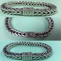 B# Men's sterling silver john hardy classic chain bracelet 6mm $550.00