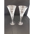 C# 2 Waterford Champagne Glasses $40.00