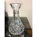 "C# Waterford Crystal flower vase  5 1/2"" across bottom  9"" tall"