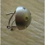 E#015 LADIES 14K W/GOLD CUSTOM MADE DOME 0.25ct. DIAMOND EARRINGS