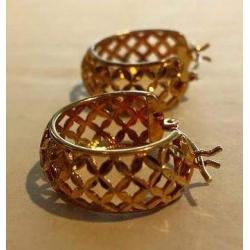 E#002 Ladies 14k Y Gold Hoop Earrings 2.3dwt $92.00