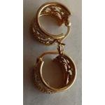 E#006 14k Y Gold Hoop Earrings 2.3dwt