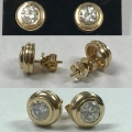 E#001 14k yellow gold earrings SI//H approximately 1.50cts. Total $2895.00