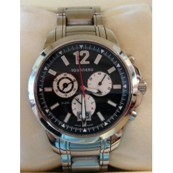 WW#24 MENS STAINLESS STEEL TOUREAU CHRONO WATCH $2495.00