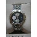 WW#13 MENS TUTONE LASSALE COUTURE WATCH