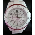 WW#15 MENS STAINLESS STEEL MONTRES CARLO WATCH (WHITE CERAMIC) $100.00