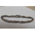 SB#058 LADIES STERLING SILVER FASHION BRACELET WITH CZS