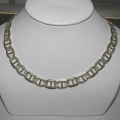 SN#012 MENS STERLING SILVER NECKLACE  24""