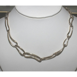 SN#003 STERLING SILVER FASHION NECKLACE