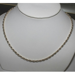 "SN#013 MENS STERLING SILVER NECKLACE 16"" ROPE"