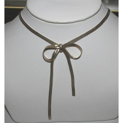 SN#008 LADIES STERLING SILVER FASHION NECKLACE