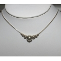 SN#004 LADIES STERLING SILVER FASHION NECKLACE