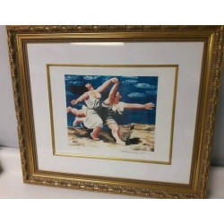 A# Pablo Picasso Title: two women running on the beach Offset lithograph $275.00