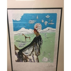 The Chef (Earth Goddess) Hand Signed Salvador Dali Lithograph 1980 $1500.00 Or Best Offer