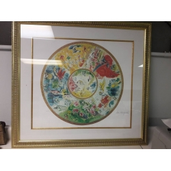 """A# Marc Chagall """"Paris Opera"""" Offset Lithograph In Color With Certification $400.00 Or Best Offer"""