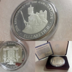 C#04 1978 Jamaica $25 Proof silver 25th anniversary of the coronation of Elizabeth II $200 or best offer