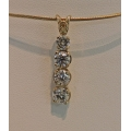 N#004 LADIES 14K YELLOW GOLD JOURNEY PENDANT (no chain) $2500.00