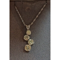 N#006 LADIES 14K WHITE GOLD JOURNEY PENDANT NECKLACE $1800.00