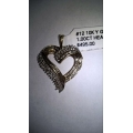 N#012 10k yellow gold heart pendant (1.00ct in diamonds) $300.00