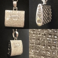 N# 14k white gold fashion Purse Necklace - custom made
