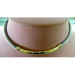 N#002 14K Y GOLD & STERLING NECKLACE (DAVID YURMAN) $1695.00