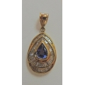 N#031 14k yellow gold (diamond & Tanzanite) Pendant $800.00