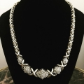 N#18 Ladies fashion Necklace  10k y gold Approximately 4-5ct diamond  Trade in special $1,995.00