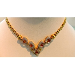 N#005 ladies 14k yellow gold fashion necklace (2.00cts. total) $2295.00