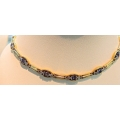 N#001 LADIES 14K TANZANITE & DIAMOND NECKLACE $3495.00