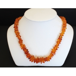 "PN#16 18"" orange coral stone necklace gold plated clasp (4 available) $40.00 each"