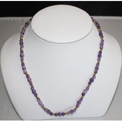 PN#08 14k y gold clasp  purple and gold balls 2mm  $100.00 or best offer