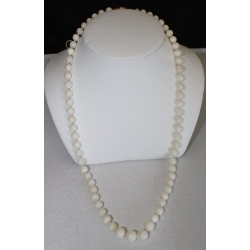 "PN#07 14k y gold clasp 22"" white 5mm $200.00 or best offer"