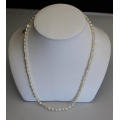 "PN#12 sterling silver clasp 17"" PEARL NECKLACE 5mm $99.00"