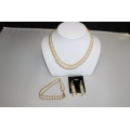 "PN#06 14k y gold 8-10mm 16"" necklace / 7"" bracelet / 1.5"" earrings $500.00 obo"
