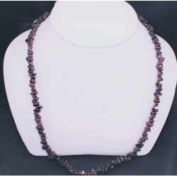 "PN#05 14k y gold clasp 18"" dark purple $100.00"