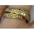 R#166 18k yellow gold fashion Ring (1.00ct)