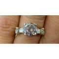 R#162 14k Two tone (2.17ct Round Center stone) I-1 j-k color Engagement/ Wedding Ring