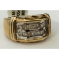 R#159 10k yellow gold mens Fashion RIng (2.00cts in diamonds)